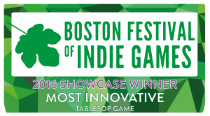 BostonFIG 2016 Showcase winner - Most Innovative Tabletop