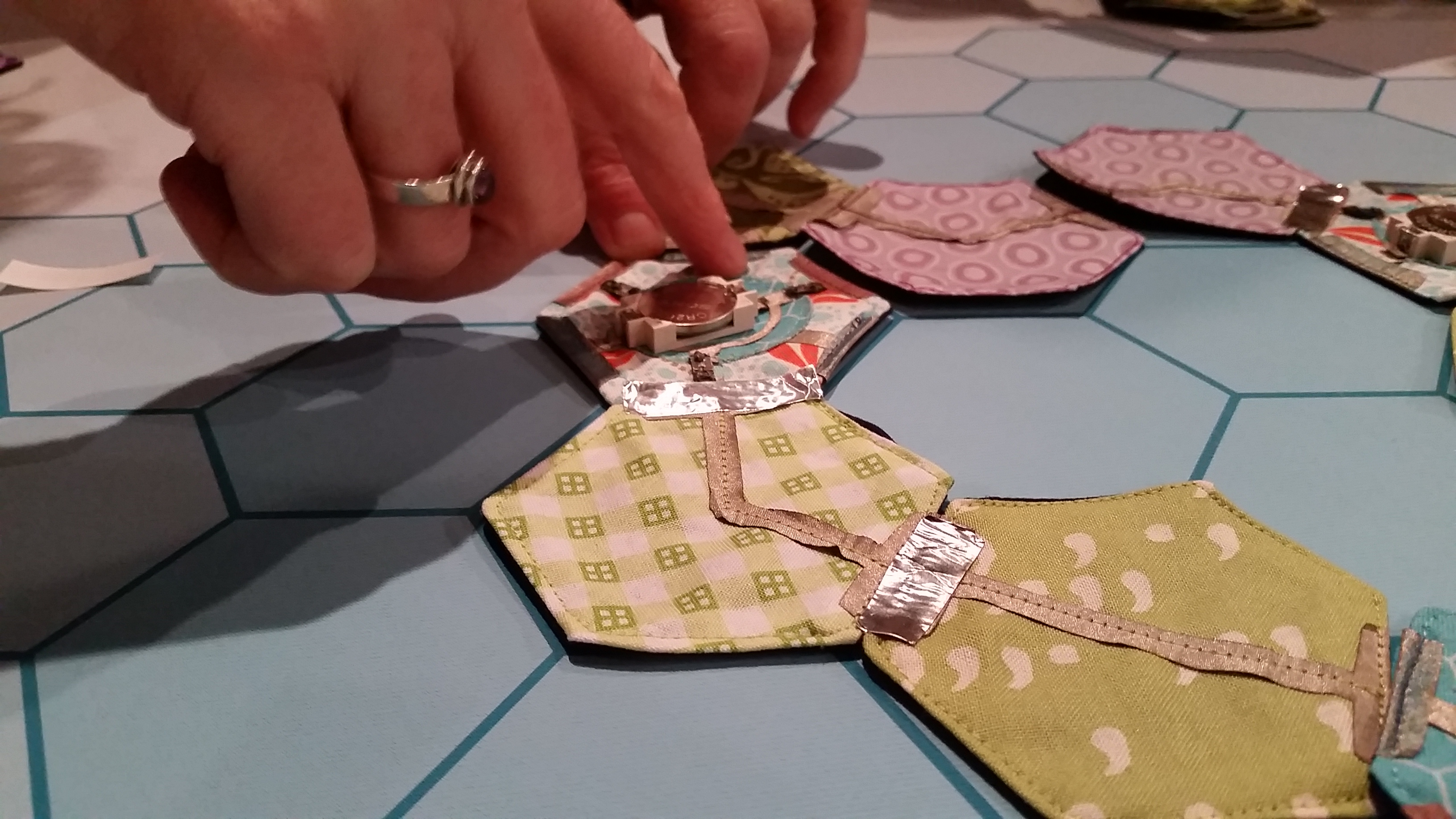 Finishing with conductive tape