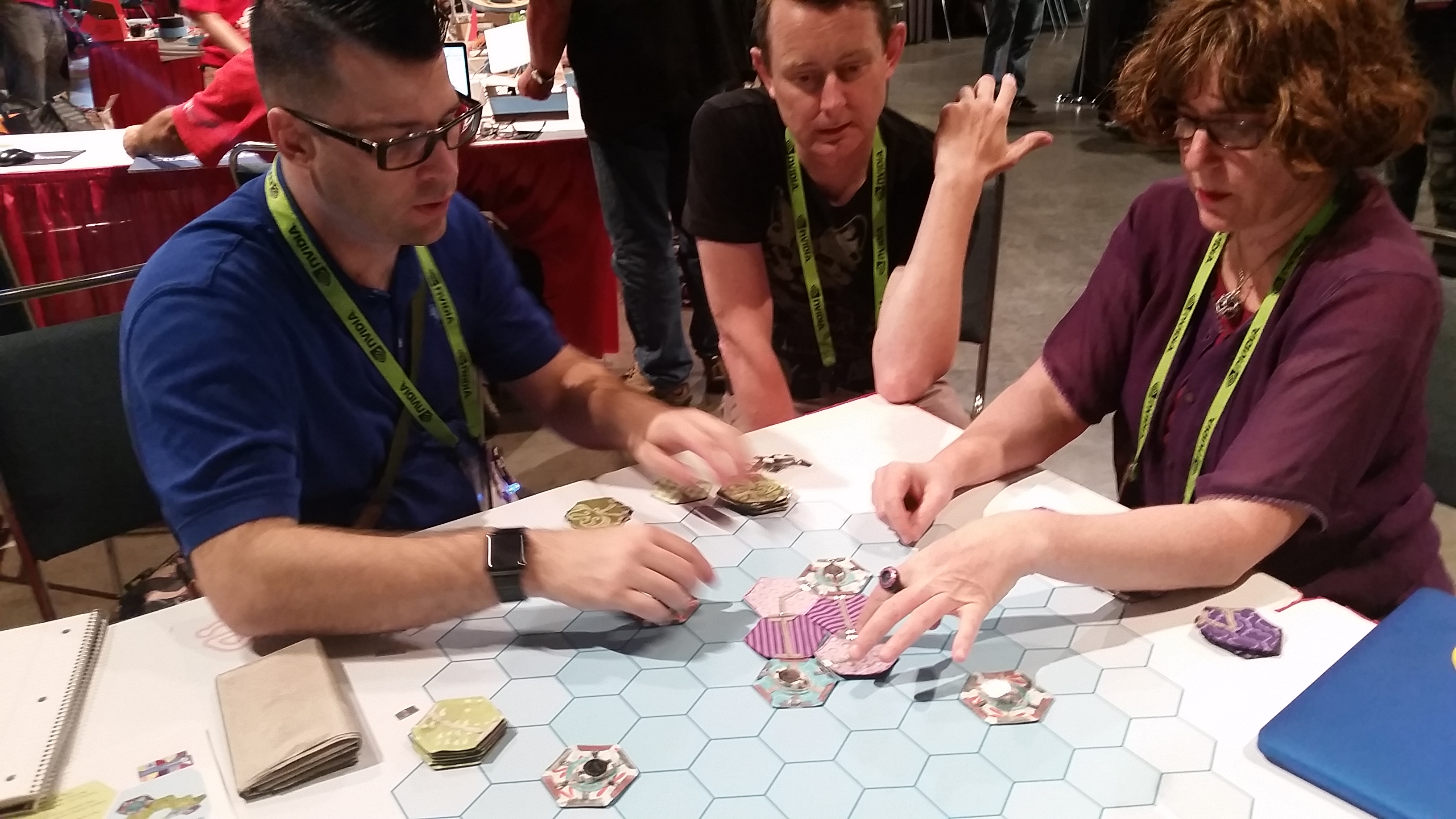 Players at SIGGRAPH playing with eBee