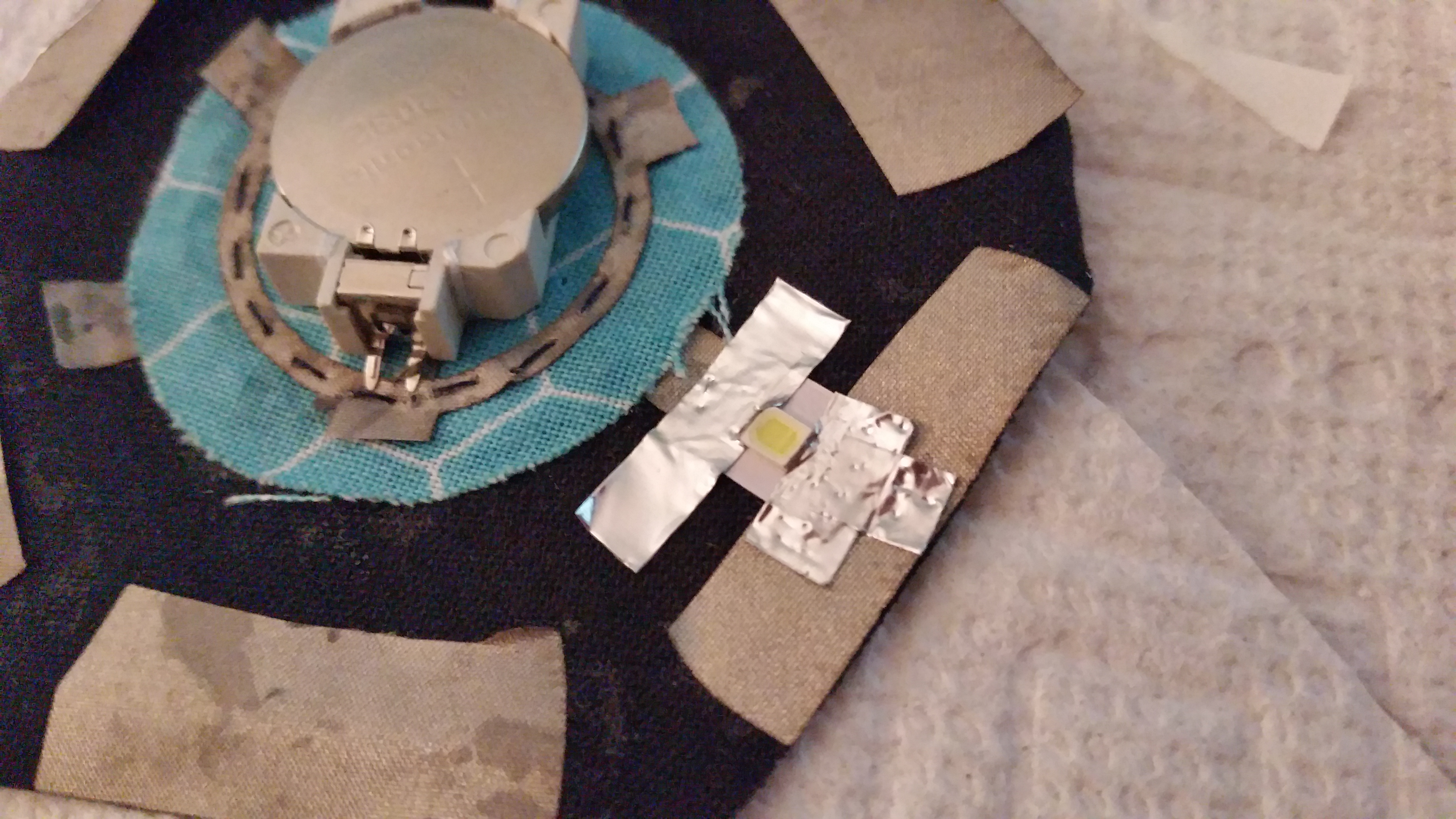 Conductive Tape on a Power Source